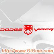 dodge viper 2 道奇蝰蛇汽车标志贴纸高清图片