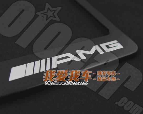benz奔驰御用改装品牌 amg标志黑色亚光着色高级金属牌照